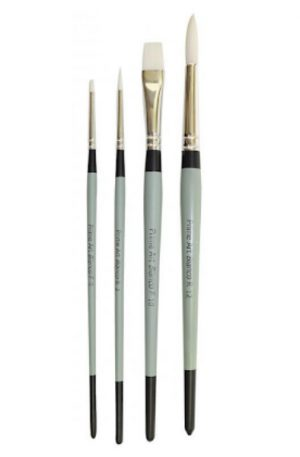 Prime Art Bianco Brushes available in round and flat