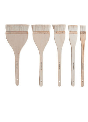 Super Soft Prime Art Goat Hair Hake Brushes in various sizes