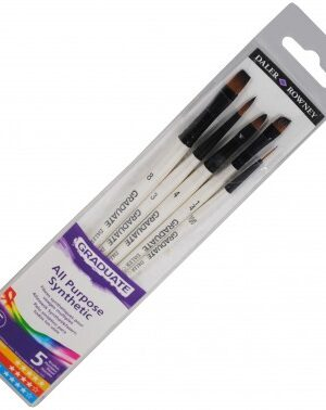 Daler Rowney Graduate All Purpose 5pc Synthetic Brush Set