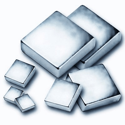Neodymium block magnets in a variety of sizes