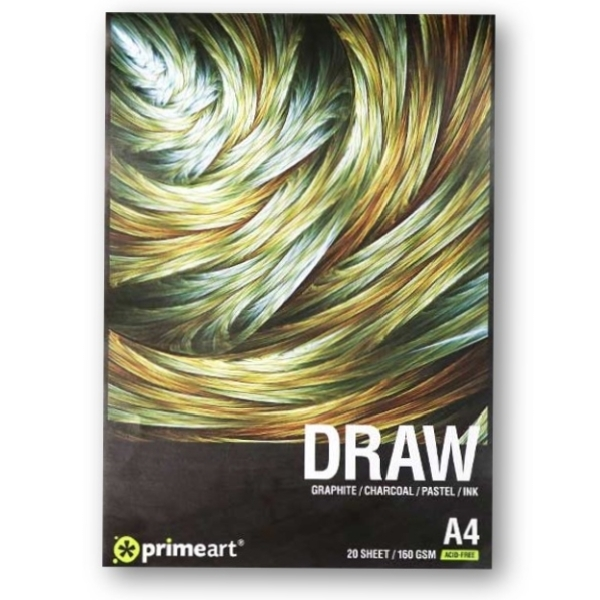 Prime Art Draw Pad 160g available in A4, A3 & A2