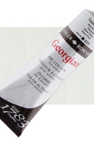 Daler Rowney 225ml Georgian Oil Paint Titanium White tube